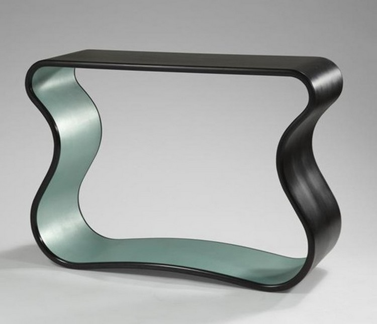 bonetti  console tables Console Tables by Mattia Bonetti bonetti MBConsoleTwoColourRibbon