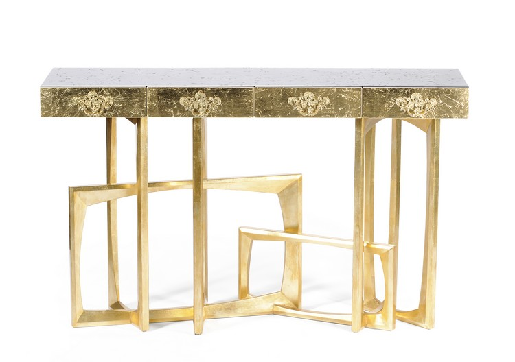 console tables console tables 10 Luxurious Gold Console Tables goldmetropolis 01