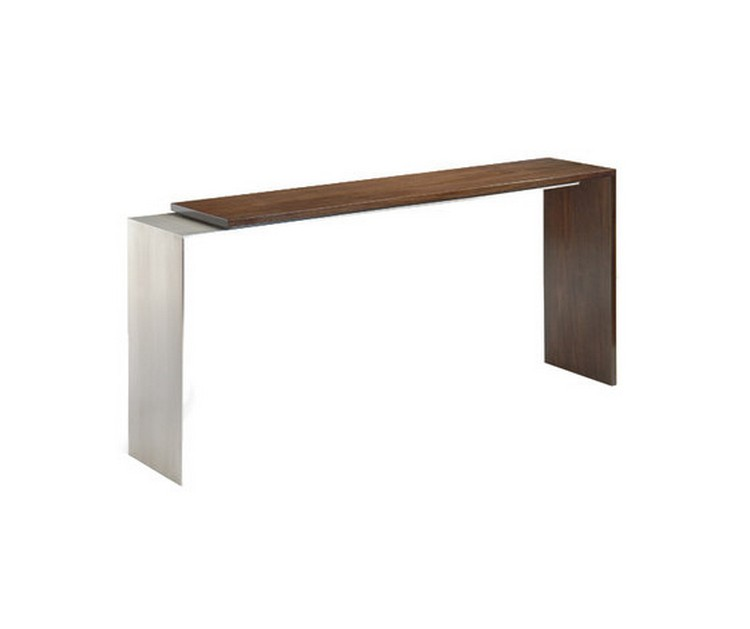console tables Console Tables Incredible Console Tables With Metal Detailing steeloverlayconsole b