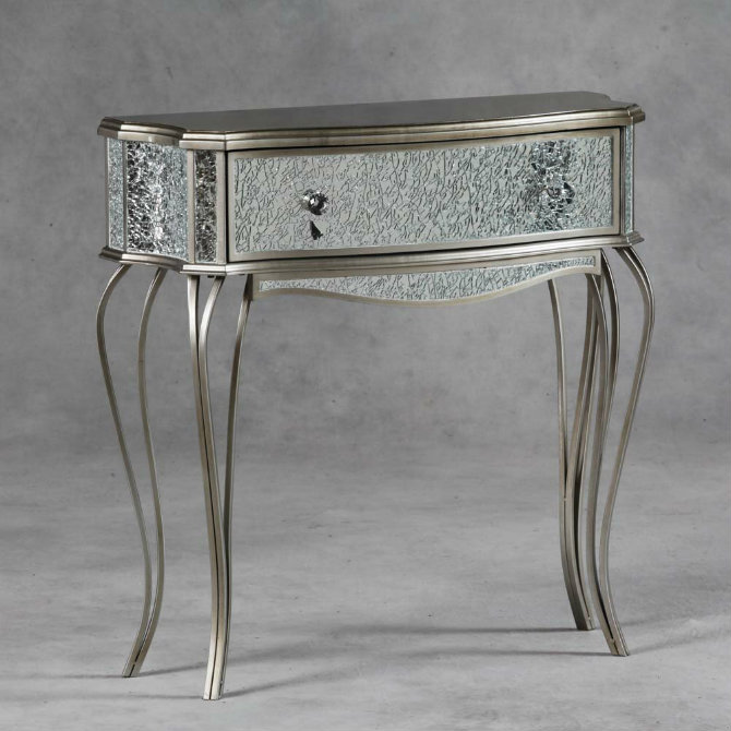console tables The Most Amazing Diamond Inspired Modern Console Tables EE3510 Provence Mosaic Gold Small Console Hall Table