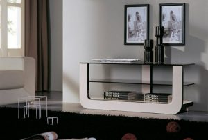 Console Tables console tables Black and White Contemporary  Console Tables Glass Modern Console 300x203