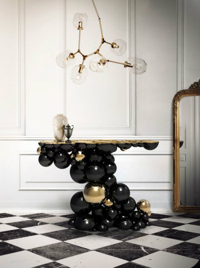 console tables console tables Top 5 Golden Modern Console Tables to Inspire You Today Luxury Gold and Black Furniture for Modern Interiors 21