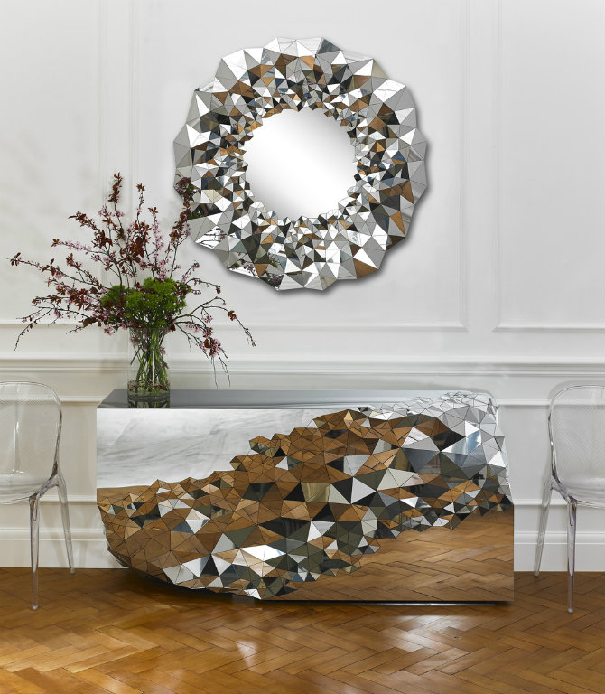 console tables console tables The Most Amazing Diamond Inspired Modern Console Tables StellarmirrorandConsole JakePhipps HRlifestyle