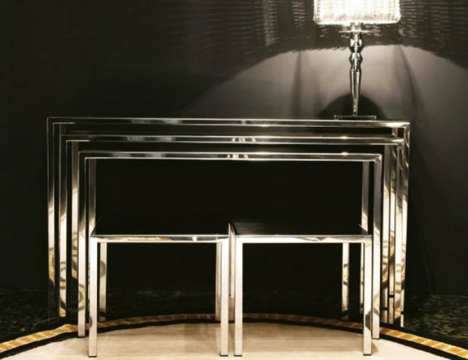 console table console tables Be Amazed by These Luxury Steel Modern Console Tables e0effcb0a9eba61b7a6cd99a2cf5e14a