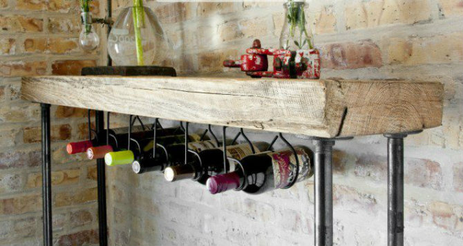 24-unique-handmade-wine-rack-designs-11-630x335 Console Table Unique Modern Console Table Designs 24 Unique Handmade Wine Rack Designs 11