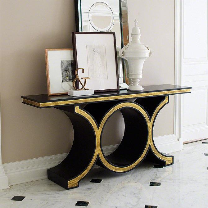 elegant console table.  Elegant Black Modern Console Tables