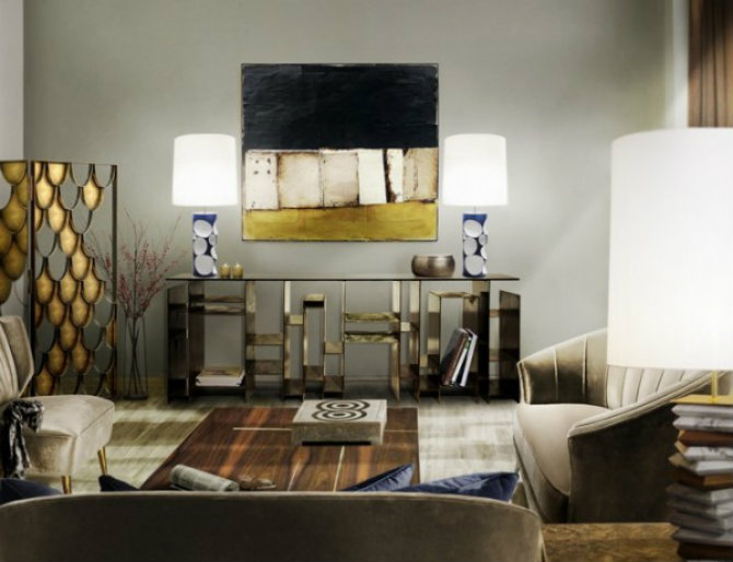 living-room-ideas-with-modern-console-tables-2-600x460 console table Long Console Table Designs for Luxury Interiors Living room Ideas with Modern Console Tables 2 600x460