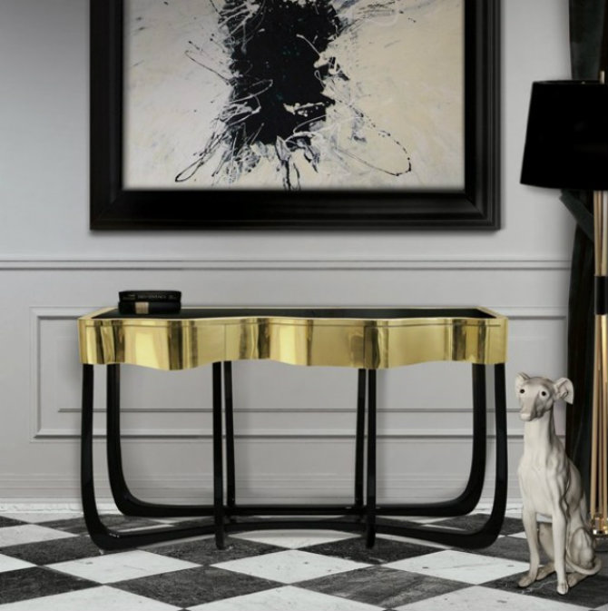 console tables Console Tables Elegant Black Modern Console Tables TOP 10 BEST  MODERN  CONSOLE TABLES FOR LUXURY  INTERIOR DESIGN  PROJECT  2014 Boca do Lobo