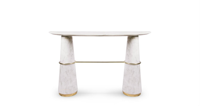 agra-white-marble-console-1 Console Tables The Best Modern Console Tables for Hospitality agra white marble console 1