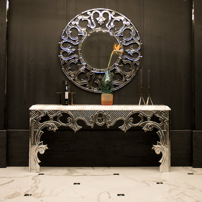 Console Table The Best Accessories for Your Modern Console Table mirror glass console table m 1