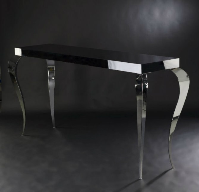 console tables Console Tables Elegant Black Modern Console Tables vg133