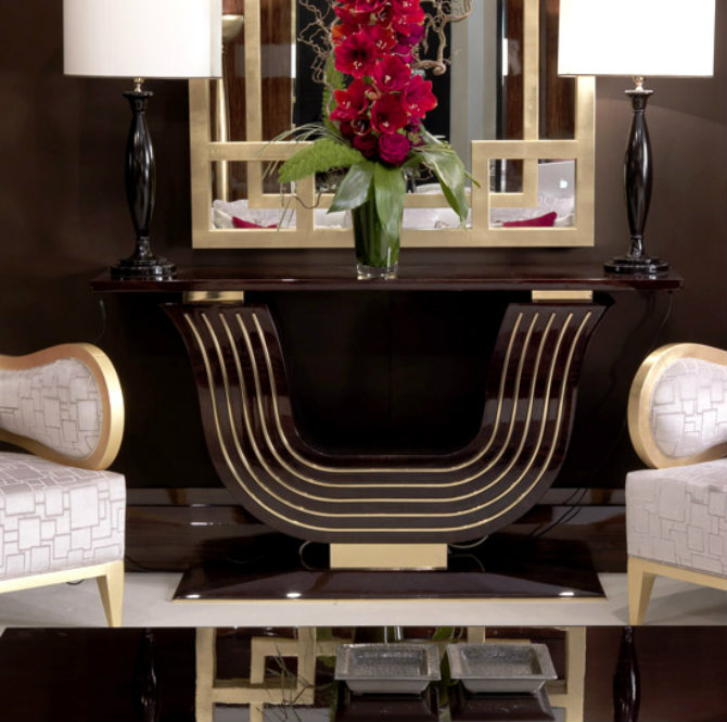 console tables console tables Dramatic Modern Console Tables walnut brass console M