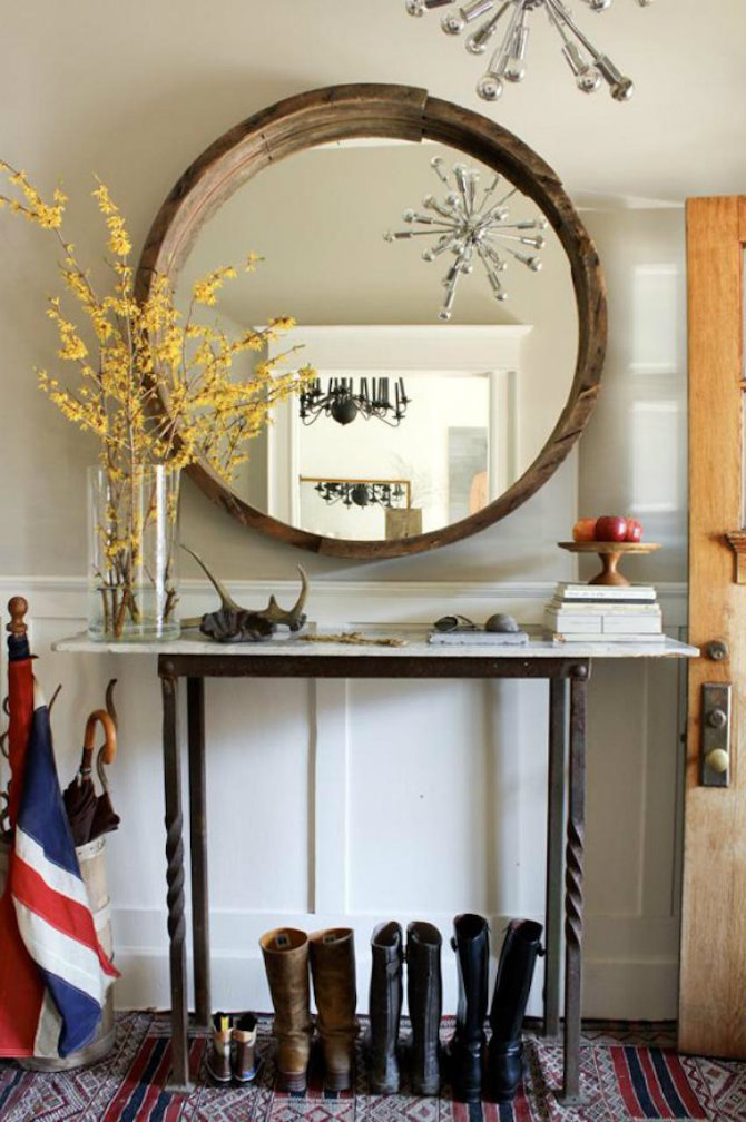 10-amazing-hallway-mirrors-that-you-will-love-2 Console Table Best Golden Mirrors for a Luxury Console Table 10 Amazing Hallway Mirrors That You Will Love 2