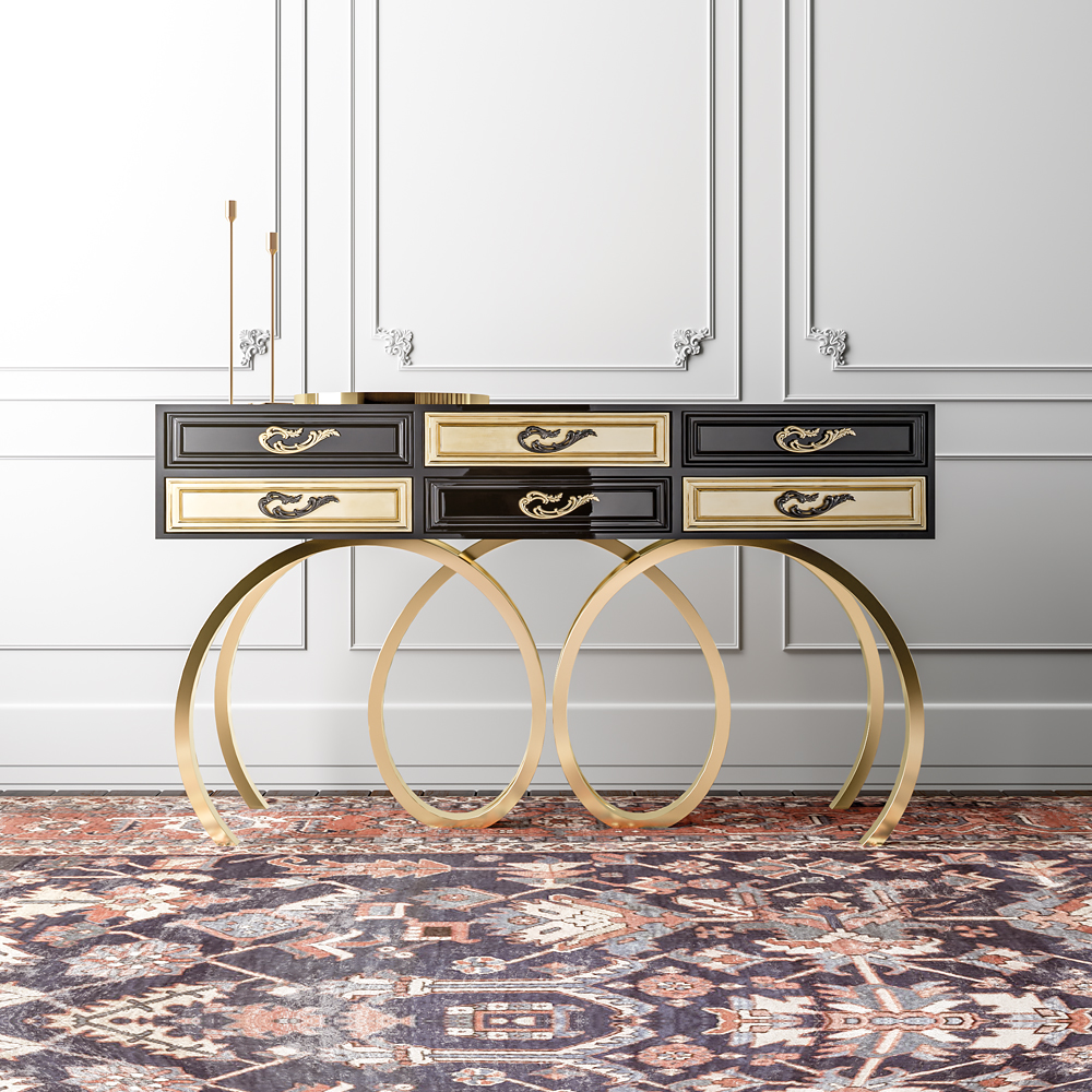 console tables Console Tables Luxury Console Tables for a Glorious Home Black console 1