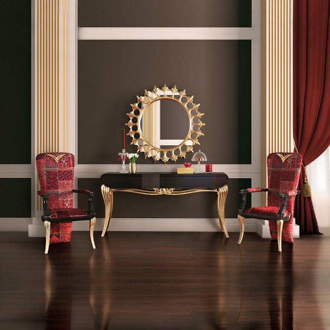 gold-console-2 Console Table Best Golden Mirrors for a Luxury Console Table Gold Console 2