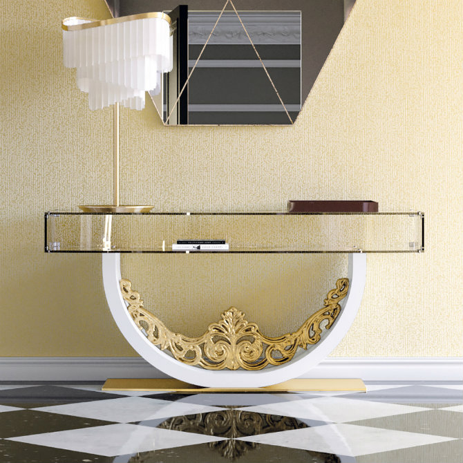 gold-console-table-2 Console Tables Incredible Steel Modern Console Tables for a Luxury Home Gold Console table 2