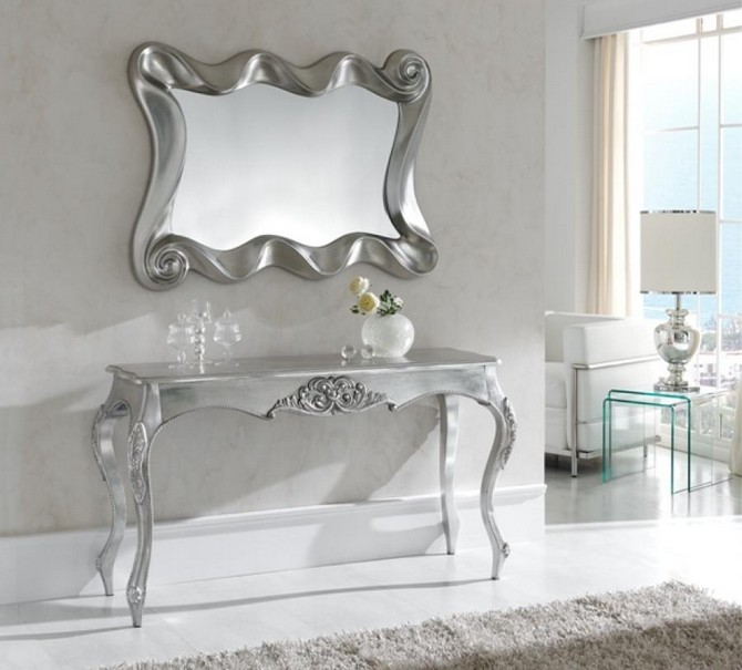 Silver Modern Console Tables Silver Modern Console Tables Top 10 Silver Modern Console Tables K 57 PU183B 4204 silver main Copy