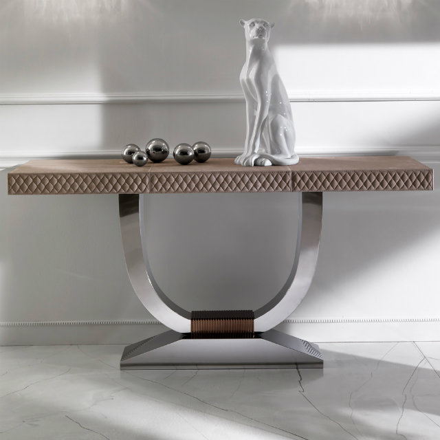 Console Table Best New Year Party Modern Console Table Modern Nubuck Leather Console Table 3