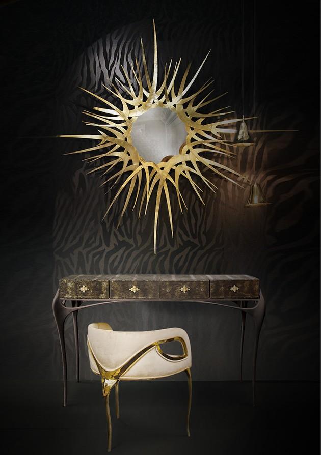 European Designs european designs Best European Designs for Modern Console Tables guilt mirror temptation console chandra chair koket projects
