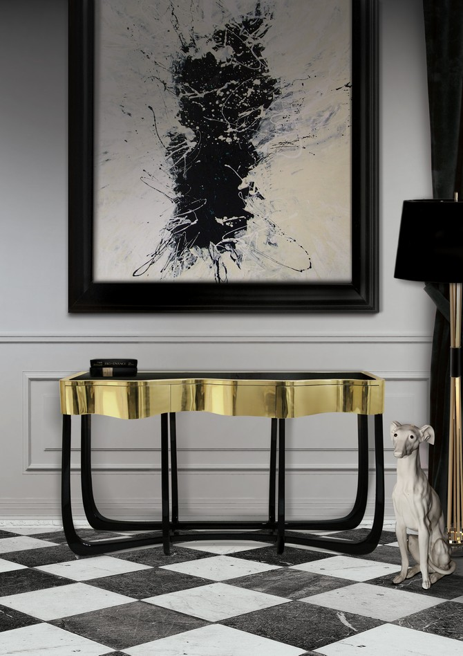 Modern Console Tables modern console tables Best Wood and Brass Modern Console Tables sinuous 05 C  pia