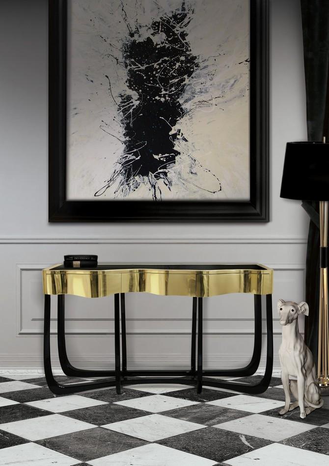 Modern Console Tables modern console tables Best Wood and Brass Modern Console Tables sinuous 05 C  pia