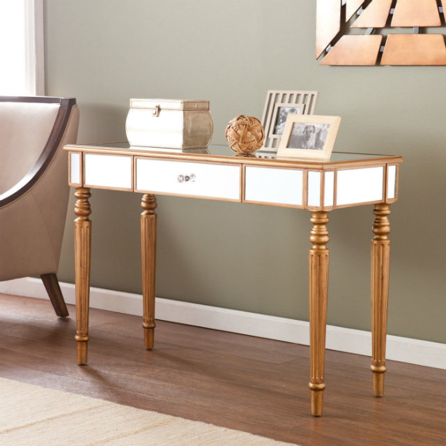 console tables Console Tables Colorful Designs for Modern Console Tables contemporary console table sofa entry modern hollywood regency glam mirrored 45a83cbd15f3c7b975fa354e91375986