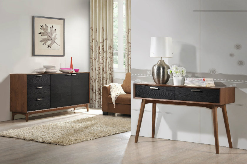 console tables Imagination in Modern Console Tables furniture small narrow modern walnut console table with high 3