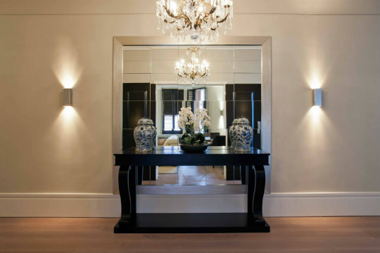 console tables Console Tables Luxury Lighting for Stunning Modern Console Tables mirrored console table with storage