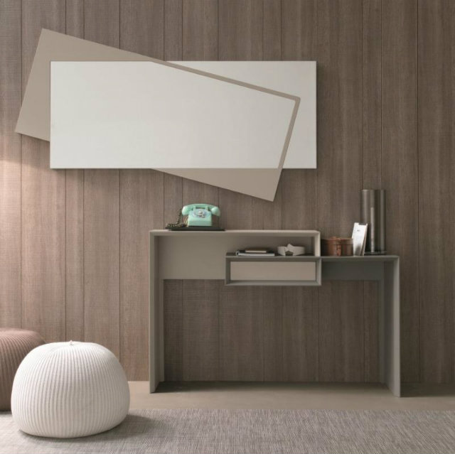 Console Table The simplicity of a Modern Console Table smart console with mirror