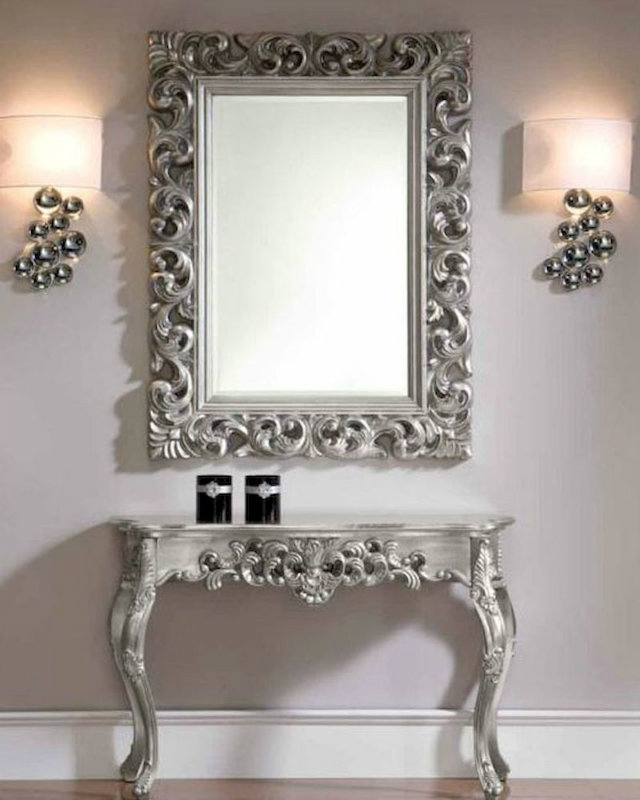 Console Tables Best Modern Console Tables for a Classic Look classic style console table and mirror set in silver 33c31 22