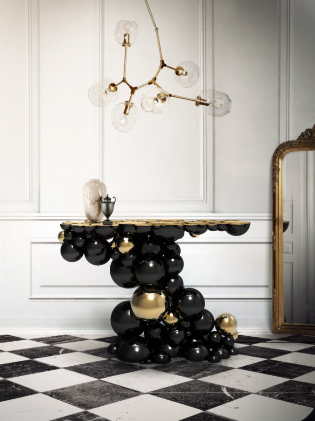 Console Table Make a Stylish Statement With Modern Console Table newton console limited edition boca do lobo 01
