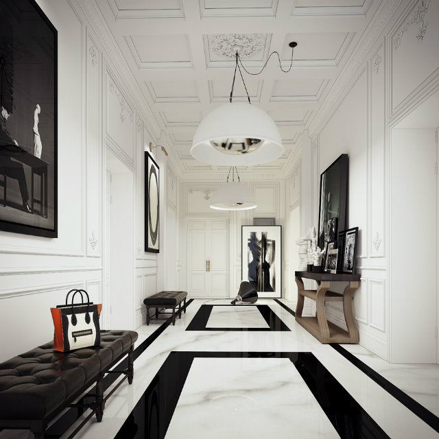 Console Tables Welcoming Modern Console Tables for Your Entryway white tile entryway