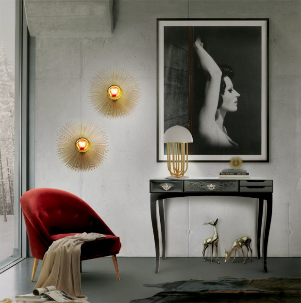 console table Modern Console Tables for your Living Room 25 inspirations to illuminate your fabulous wall mirrors 11 1
