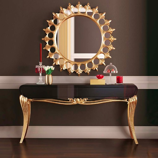 console table Most Expensive Console Tables Worldwide Gold Console 1