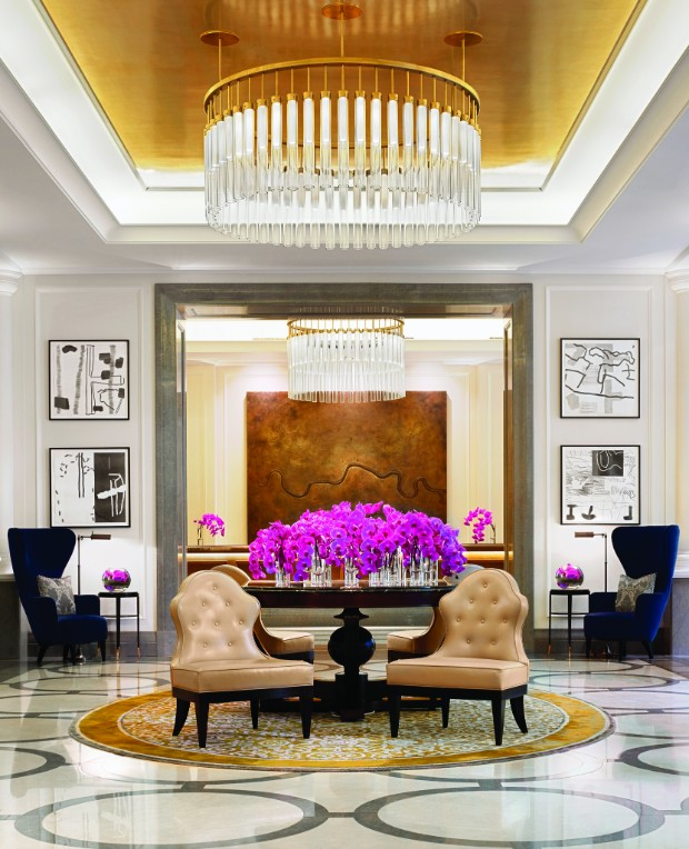 console table Discover the best Modern Console Tables for Hotels The Lobby Corinthia Hotel London