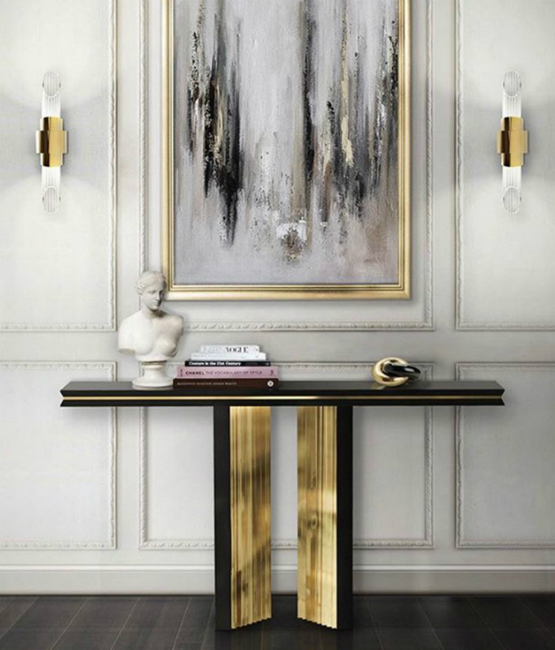 console table Get inspired with Striking Console Tables for your Entry Hall a9a2efea72e1ef8f7b11e57ed067e082