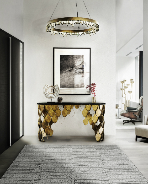 console table Get inspired with Striking Console Tables for your Entry Hall brabbu ambience KOI 55 HR