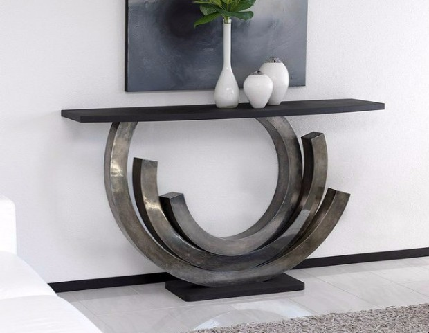 console table 10 Stylish Modern Console Tables round console table 670x520