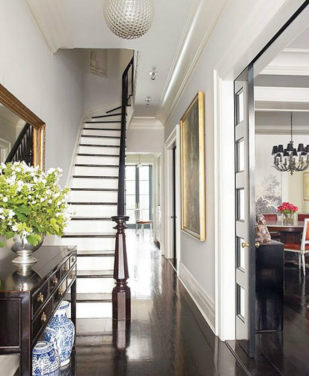 console tables Outstanding Celebrities Entryways with Modern Console Tables Brooke Shields New York Townhouse