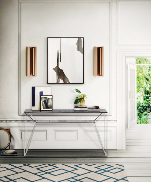 console table Get inspired by Luxurious Console Tables Find Out the Best Lighting Design to Brighten Up Your Hallway 3