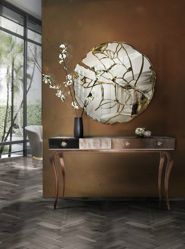 console table Glamorous Console Tables to Match your Wall Mirrors Glamorous Sideboards Consoles Match Your Wall Mirrors 5