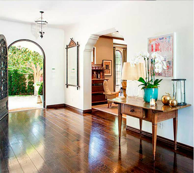 console tables Outstanding Celebrities Entryways with Modern Console Tables Reese Witherspoon and Jim Toth   s Former Brentwood Home