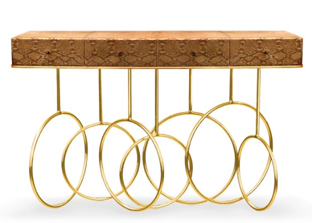 console tables Luxurious Golden Modern Console Tables burlesque console 2