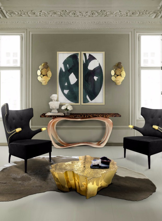 console table Living Room Designs With Modern Console Tables eden center table boca do lobo 09
