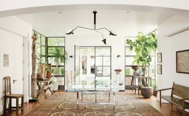 console tables Outstanding Celebrities Entryways with Modern Console Tables ellen degeners