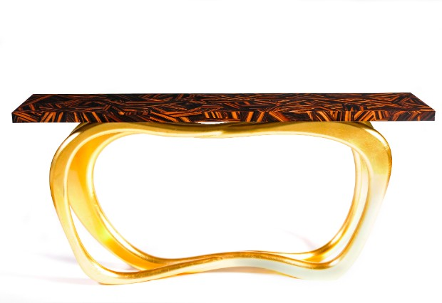 console table The Best Modern Console Tables At ICFF 2017 infinity gold