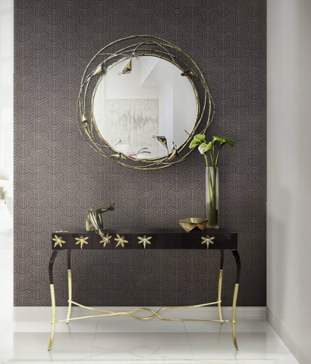 console table How to Match Wall Colors with your Modern Console Table koket