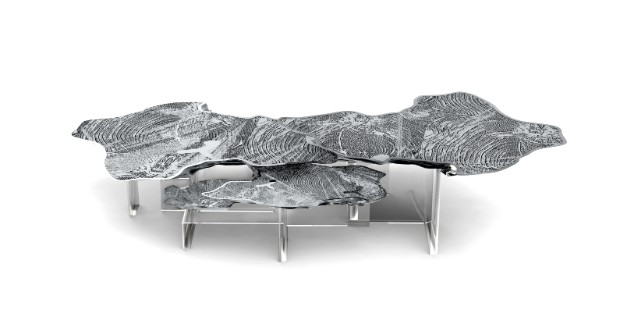 modern console tables Trendy Duo: Modern Console Tables & Center Tables monet silver center table