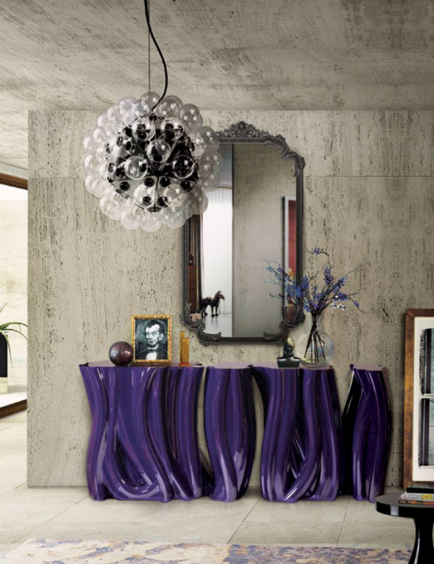 console table Glamorous Console Tables to Match your Wall Mirrors monochrome 1 h