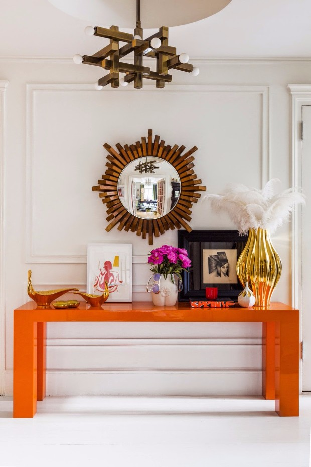 console table The perfect colors for your Console Table via this is glamorous